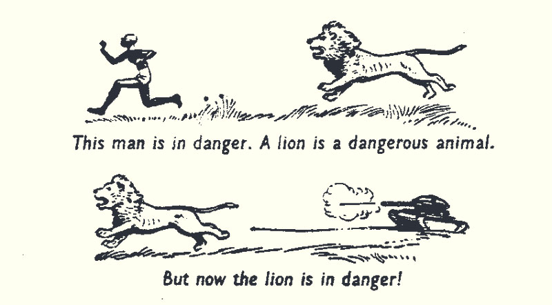 Lion is in danger